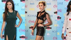 Móda na Teen Choice Awards 2013 - Selena Gomezová, Miley Cyrusová a Kerry...