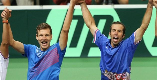 Tomáš Berdych a Radek Štěpánek byli hlavními tvůrci úspěchu