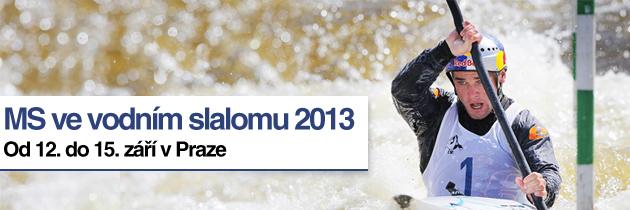 MS ve vodním slalomu 2013, 12. do 15. září v Praze