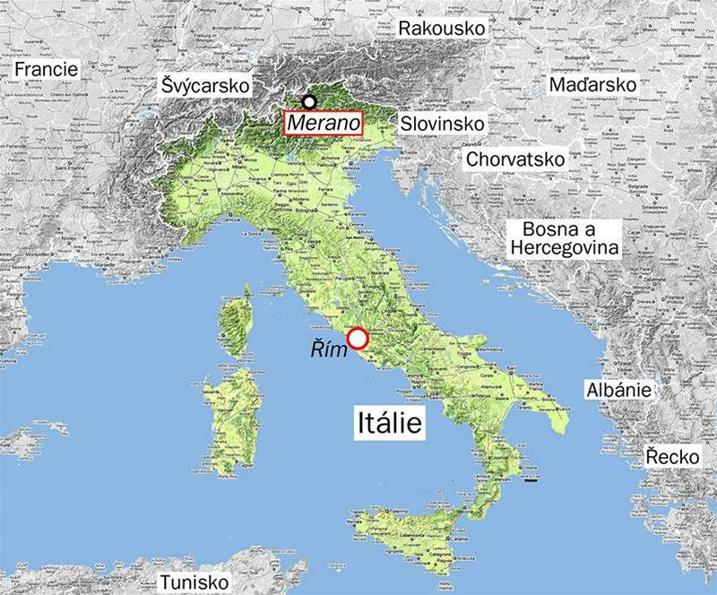 Mapa Ceska Mapa Italie