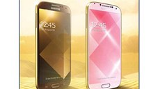 Samsung Galaxy S4 Gold Brown a Gold Pink