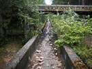 The disused bobsleigh track from the Sarajevo 1984 Winter Olympics is seen on...