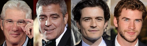 Richard Gere, George Clooney, Orlando Bloom a Liam Hemsworth