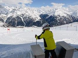 Na startu měřeného slalomu