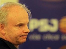 Šéf PSJ František Vaculík na páteční tiskové konferenci týkající se kauz, které...