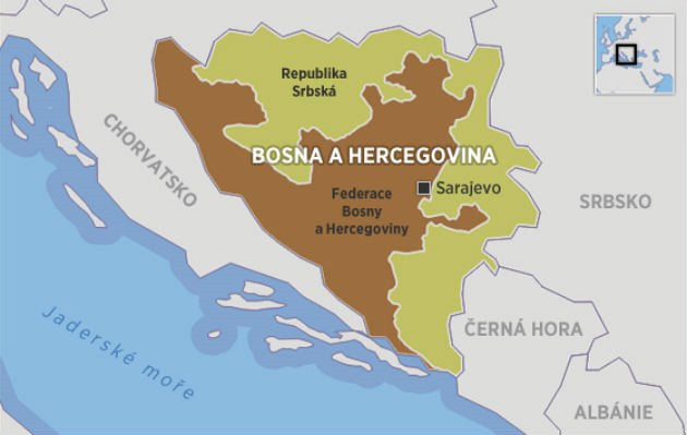 Map Of Bosnia Hercegovina