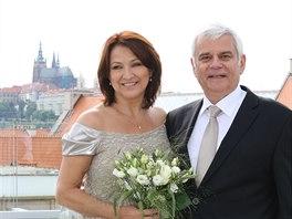 Zlata Adamovská a Petr Štěpánek se vzali 28. června 2013.