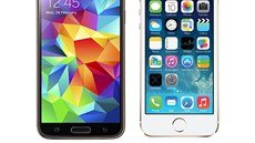 Samsung Galaxy S5 a iPhone 5s