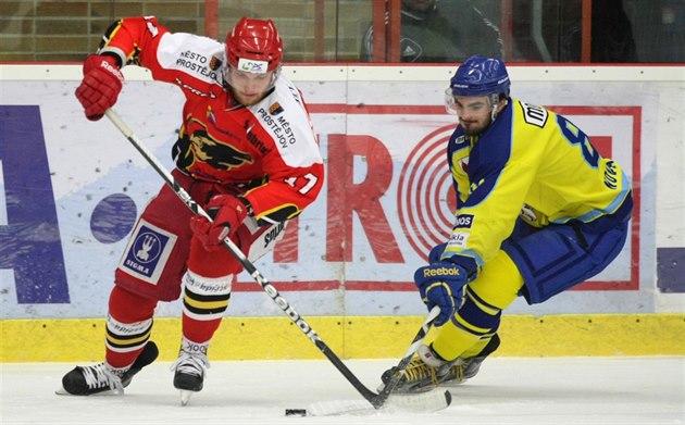 Börjar den första hockey ligan. Efter 17 år med Přerov