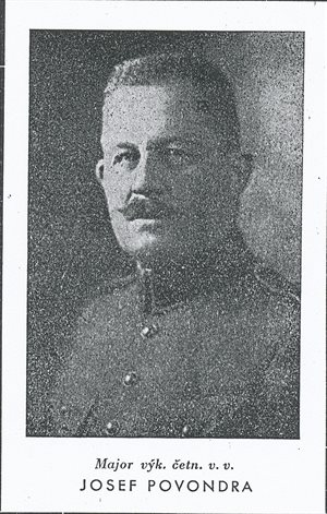 Major Josef Povondra.