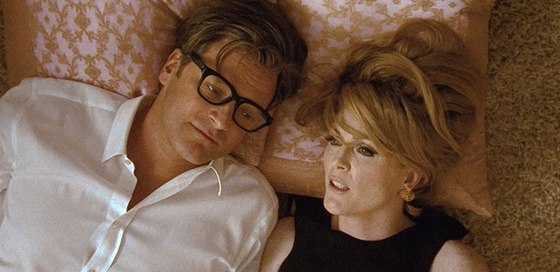 Colin Firth a Julianne Moore ve filmu Single Man (2009), který režíroval Tom...