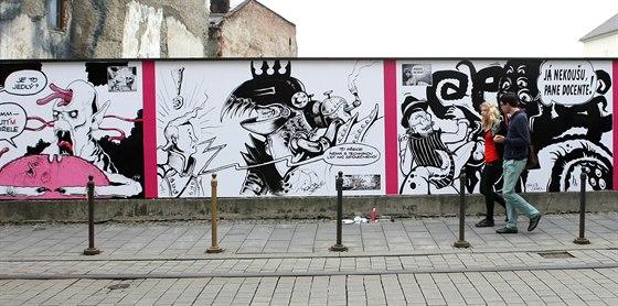 Olomouckou Zed Zaplnily Na Pocest Kaji Saudka Komiksove Obrazy
