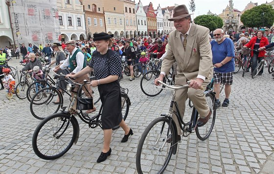 Akce se zúčastnili cyklisté místní i z různých koutů Česka. Někteří milovníci...