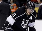 ZKLAMÁNÍ. Anže Kopitar po porážce Los Angeles Kings.