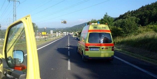 Dva lidé zemřeli při nehodě na Blanensku, silnice I/43 stojí