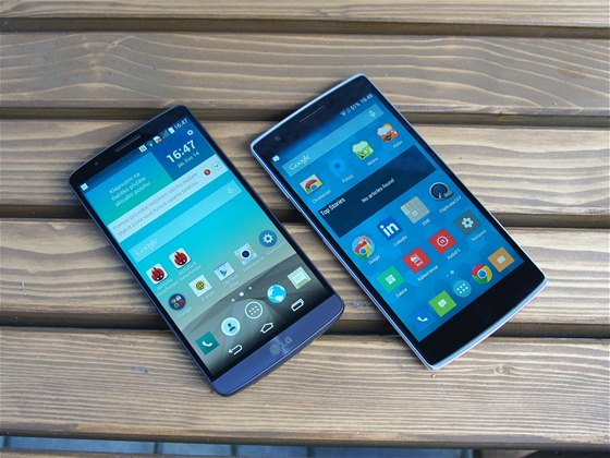 LG G3 a OnePlus One