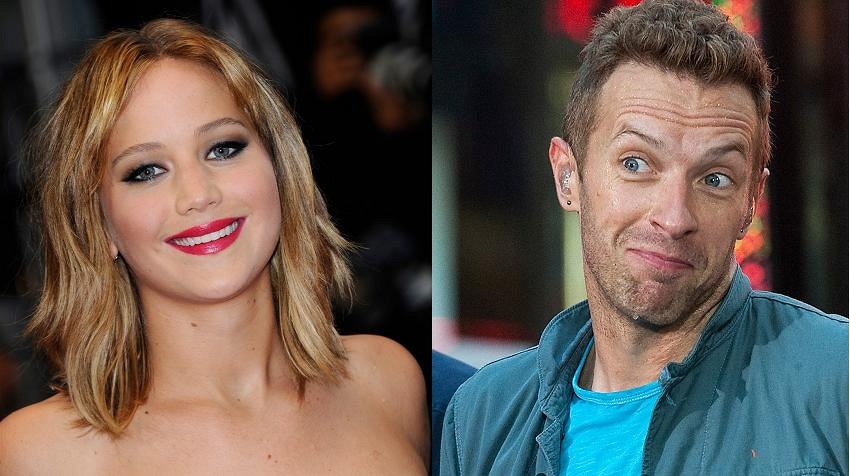 Chris Martin a Jennifer Lawrencová