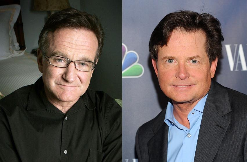 Robin Williams a Michael J. Fox