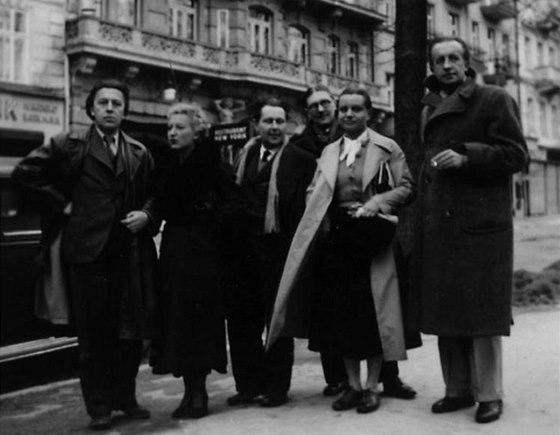 Èeská surrealistická skupina, 1935, Karlovy Vary (André Breton, Jacqueline