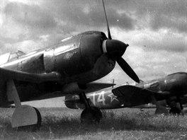 Lavočkiny La-5FN československých pilotů bojujících na východní frontě.