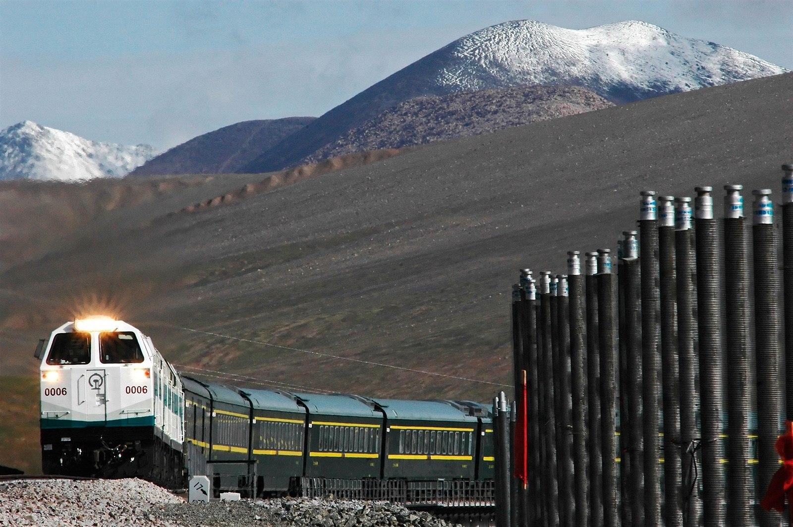 Výsledek obrázku pro železnice peking lhasa