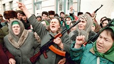3 Picture taken on December 15, 1994 shows Chechen women during an anti-Russia...