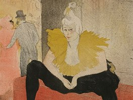 Henri de Toulouse-Lautrec: Sedící klaunka (1896)