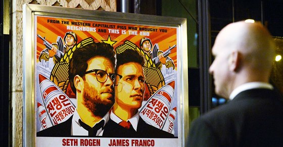 Reklama na film The Interview v Los Angeles (11. prosince 2014)