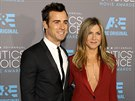 Justin Theroux a Jennifer Anistonová (Los Angeles, 15. ledna 2015)
