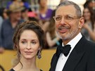Jeff Goldblum a Emilie Livingstonová (Los Angeles, 25. ledna 2015)
