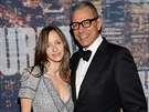 Jeff Goldblum a Emilie Livingstonová (New York, 15. února 2015)