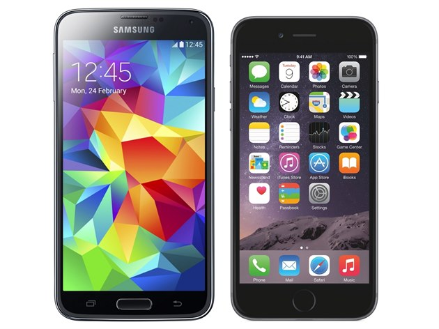 Samsung Galaxy S5 a iPhone 6