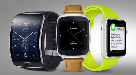 Samsung Gear S Asus ZenWatch a Apple Watch