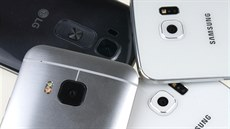 HTC One M9, LG G Flex 2, Samsung Galaxy S6 a Galaxy S6 edge