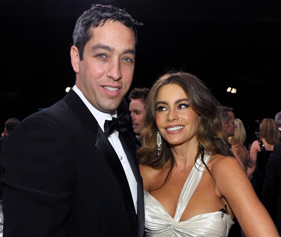 Nick Loeb a Sofia Vergara (Los Angeles, 27. ledna 2013)