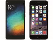 Xiaomi mi4i a Apple iPhone 6