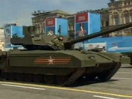 Tank T-14 Armata na přehlídce v Moskvě. (9. května 2015)