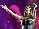 Floor Jansenová z kapely Nightwish na Masters of Rock ve Vizovicích.