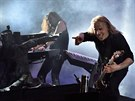 Tuomas Holopainen a Emppu Vuorinen z kapely Nightwish na Masters of Rock ve...