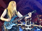 Marco Hietala z kapely Nightwish na Masters of Rock ve Vizovicích.