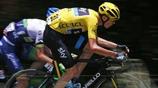 Lídr týmy Sky i Tour de France Chris Froome v 11. etapě Tour de France.