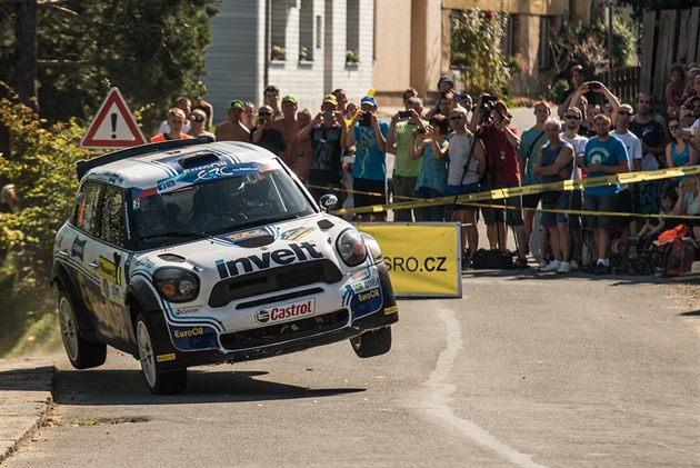 Jan Pech na trati Barum rallye.