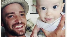 Justin Timberlake a jeho syn Silas