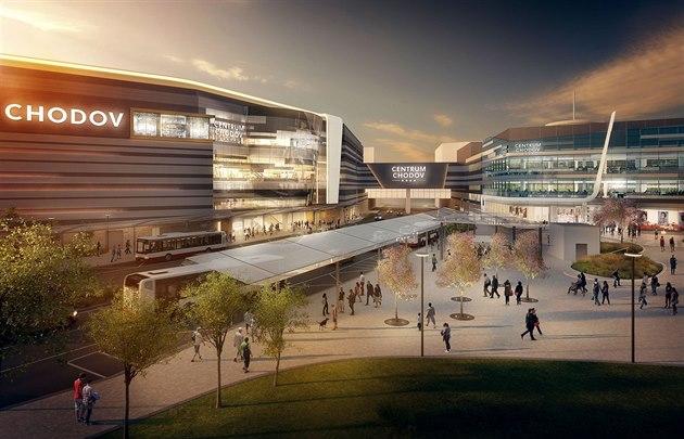 Vizualizace Obchodního centra Chodov. Tak by mělo vypadat na podzim roku  2017. ea8fa608ffe