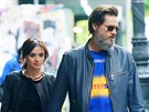 Cathriona White a Jim Carrey (New York, 21. května 2015)