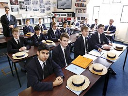 tudents in Dr. Hugh McCormick's lower sixth politics division (year 12) sit in...
