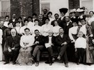 Andrew Carnegie a afroamerický lídr Booker T. Washington (po Carnegieho...