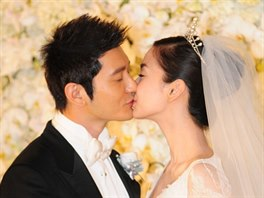 Angelababy a Huang Xiaominh
