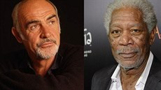 Sean Connery a Morgan Freeman