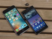 Apple iPhone 6s a Sony Xperia Z5 Compact